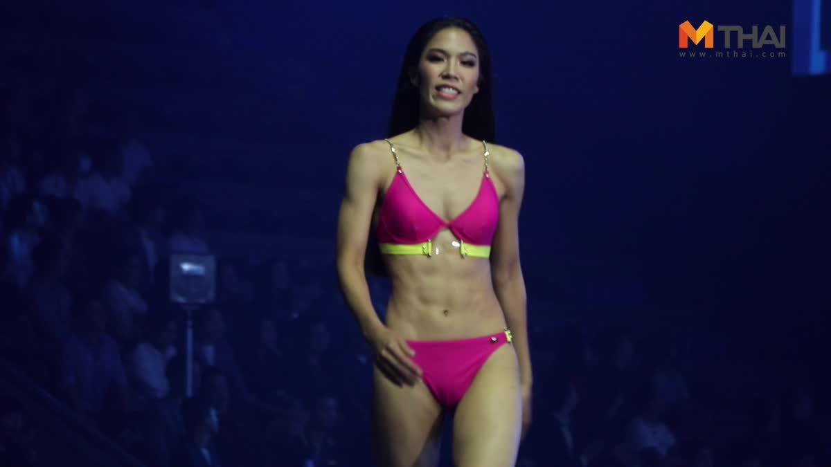 ซูมชัดๆ ซิกแพ็ค หญิง วริศรา บุญเพ็ชร เดินสับๆ ในชุดว่ายน้ำ รอบพรีลิม มิสยูนิเวิร์สไทยแลนด์ 2019