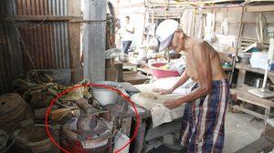 คุณปู่ วัย 87 รับจ้างรีดผ้าด้วยเตารีดโบราณหนักกว่า 7 โล นาน 64 ปี