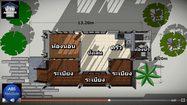 แบบบ้านรับลม ยกพื้นสูง พื้นที่ใช้สอย 67 ตารางเมตร