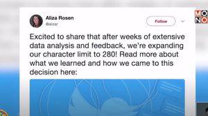 ทวิตเตอร์ประกาศขยายทวีตเป็น 280 ตัวอักษร เริ่มวันนี้