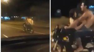 ตำรวจล่า หนุ่มสาวกลัดมัน มีเซ็กส์บน จยย. ขับโชว์ทั่วเมือง
