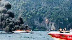 กู้ซากสปีดโบ๊ทระเบิดกลางเกาะพีพี เร่งตรวจสอบ คาด 2 สัปดาห์รู้ผล