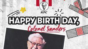"""วันที่ 9 เดือน 9 วันเกิดผู้พันแซนเดอร์ส  """"ไอดอลตัวจริง ตลอดกาล"""""""