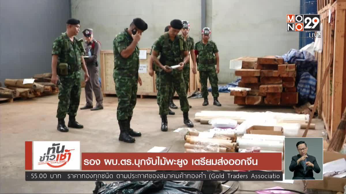 รอง ผบ.ตร.บุกจับไม้พะยูง เตรียมส่งออกจีน