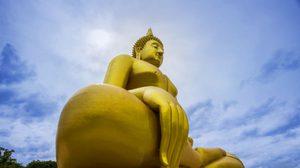 """""""หลวงพ่อใหญ่"""" จ.อ่างทอง พระพุทธรูปองค์ใหญ่ที่สุดในประเทศไทย"""