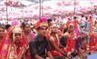 พิธีสมรสหมู่ 1,121 คู่ ในอินเดีย