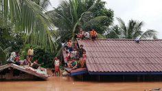 เขื่อนเซเปี่ยน สปป.ลาวแตก! น้ำทะลักท่วมบ้านประชาชน คนสูญหายนับร้อย