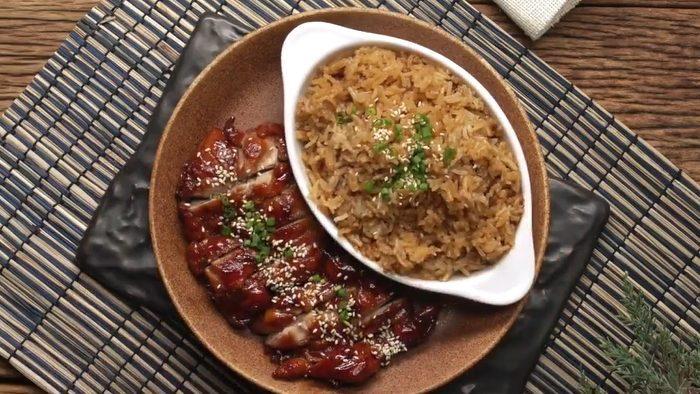 วิธีทำ ข้าวอบไก่เทอริยากิ เมนูอร่อย ไก่นุ่มๆ ข้าวหอมๆ