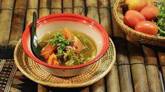 สูตร แกงผักปลังกับจิ้นส้ม รสเปรี้ยวเผ็ด ลำแต้ๆ