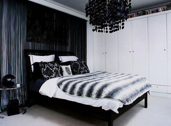 black-chandelier-bedroom