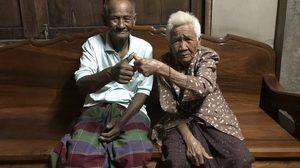 2 ตายาย ครองคู่นานกว่า 69 ปี ยังรักกันหวานฉ่ำ สุขภาพแข็งแรงดี