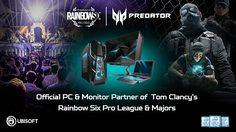 ACER PREDATOR ผู้สนับสนุนรายใหม่ Rainbow Six Pro League SEASON X