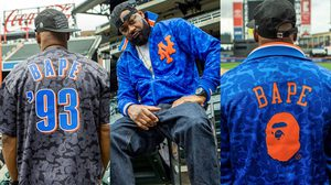 BAPE x Mitchell & Ness ปล่อยแคปซูลคอลเลคชั่นเสื้อเบสบอล MLB