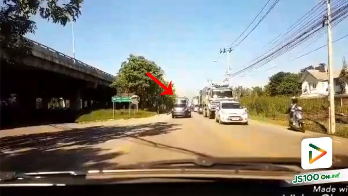 คลิปรถบรรทุกย้อนศรสวนเลน (27-09-61)