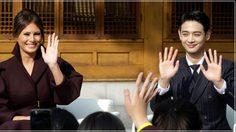 ออร่าแรง! เมื่อ มินโฮ SHINee ออกงานเดียวกับ เมลาเนีย ทรัมป์!!