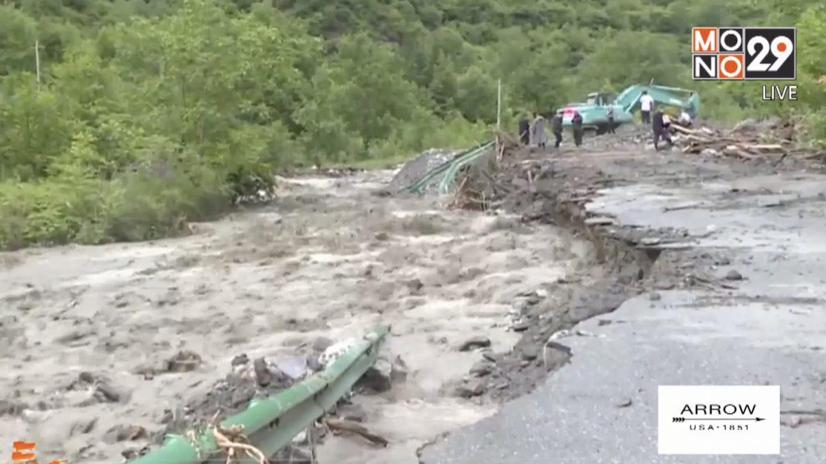 น้ำท่วมแหล่งท่องเที่ยวจีน