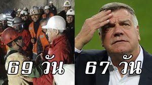 โดนล้อยับ! ชาวเน็ตทวีตแซว อัลลาร์ไดซ์ คุมทีมสั้นกว่า 33 คนงานติดเหมืองชิลี 69 วันเสียอีก