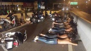 ตำรวจจับ 31 แว๊นซิ่งป่วนเมือง ยึดรถ 29 คัน