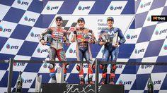Moto GP ผู้ชม 2.2 แสนคน มาร์เกซ แชมป์คนแรก PTT Thailand Grand Prix