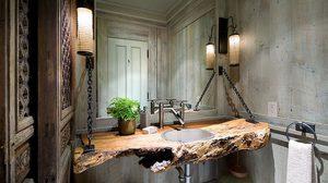 ส่องไอเดียแต่งห้องน้ำ สไตล์ธรรมชาติ ด้วย เคาน์เตอร์ไม้