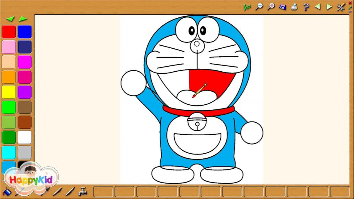 ระบายสีโดราเอมอน | เรียนรู้สี | Doraemon Coloring