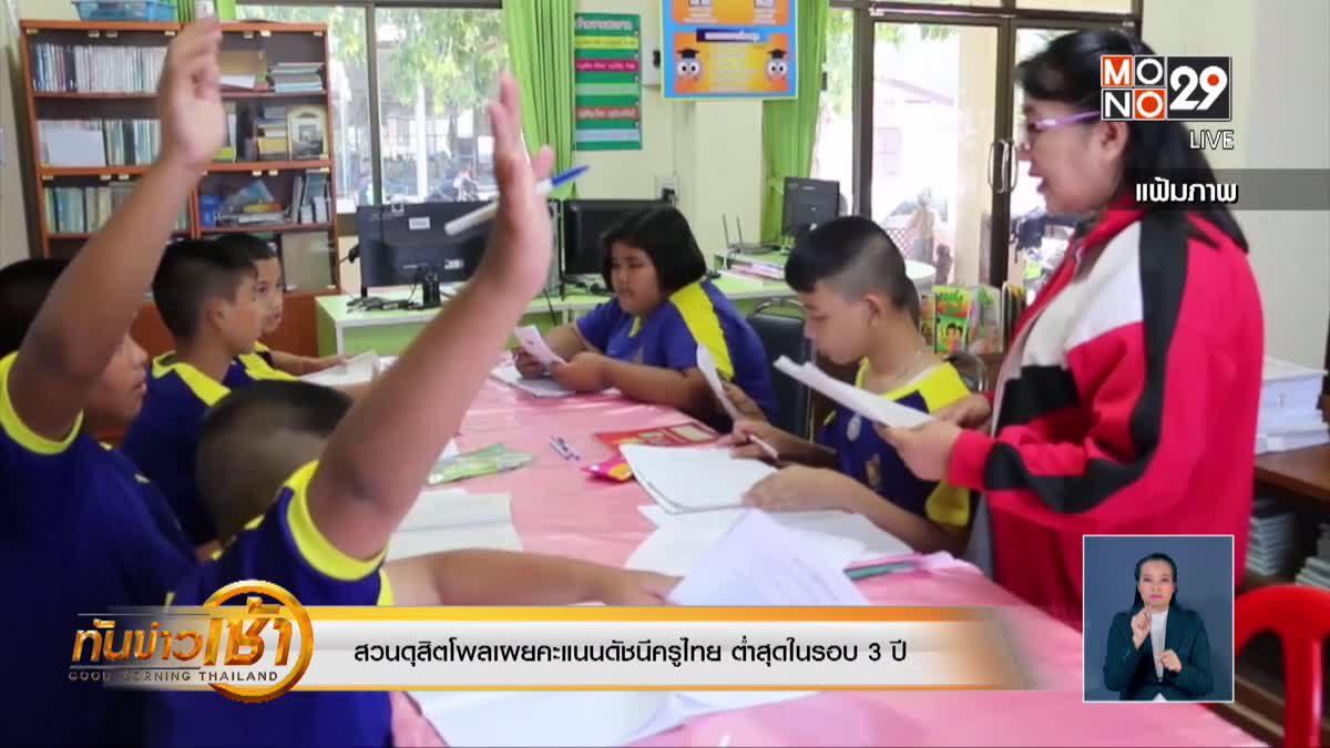 สวนดุสิตโพลเผยคะแนนดัชนีครูไทย ต่ำสุดในรอบ 3 ปี