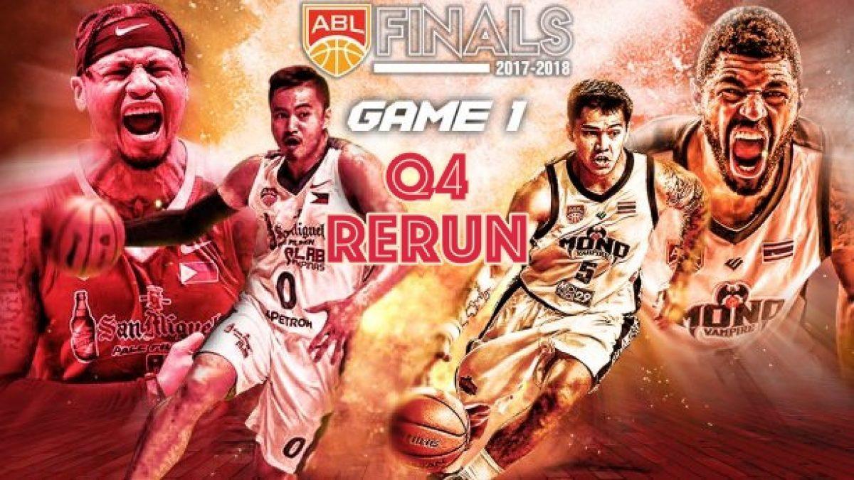 ควอเตอร์ที่ 4 การเเข่งขันบาสเกตบอล ABL2017-2018 (Finals Game1) : Alab Philipinas (PHI) VS Mono Vampire (THA) 22 Apr 2018