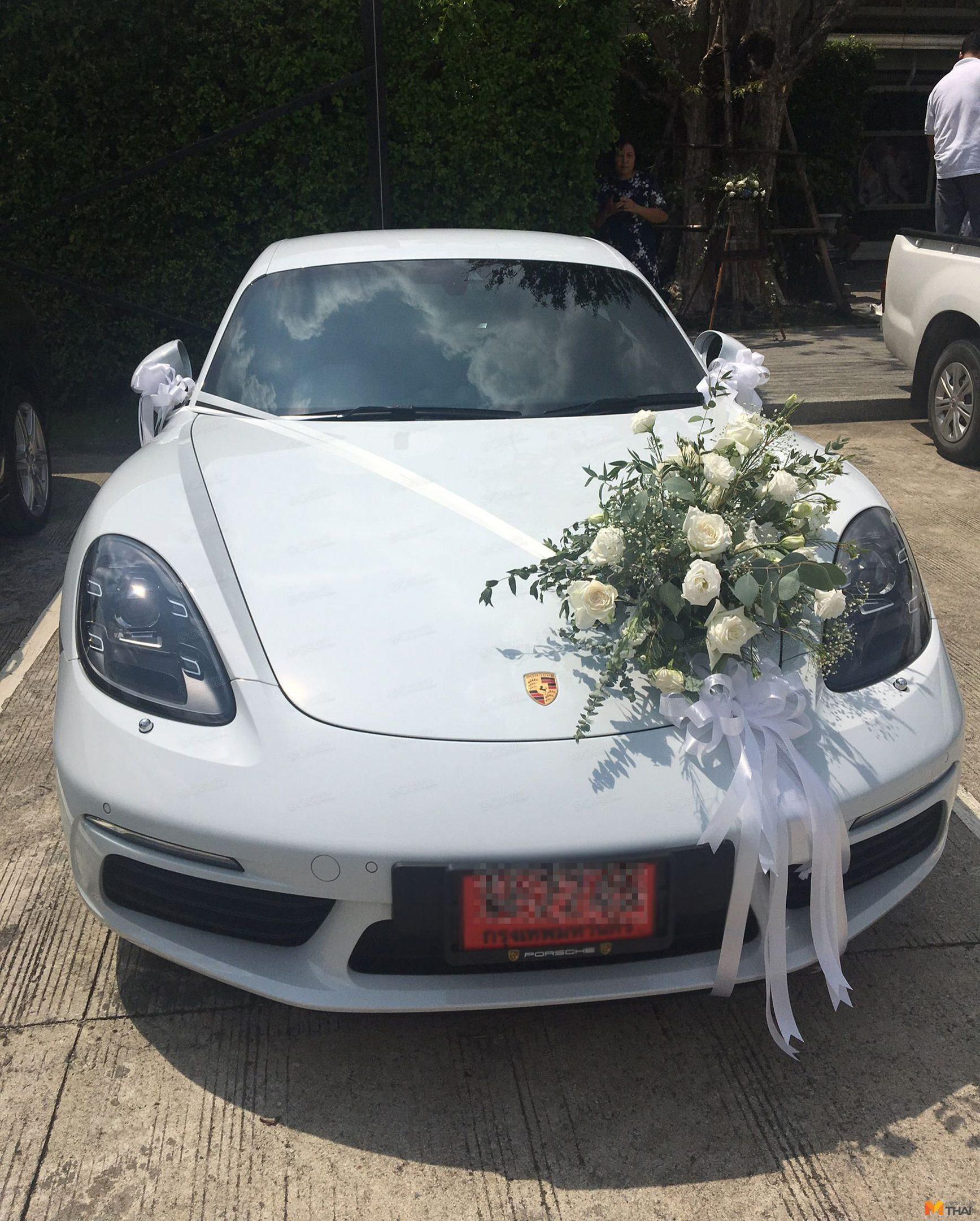 รถหรูซุปเปอร์คารก็มา Porsche cayman สินสอดให้เจ้าสาว