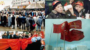 ย้อนชมภาพประวัติศาสตร์ McDonald's สาขาแรกใน สหภาพโซเวียต ตอนปี 1990