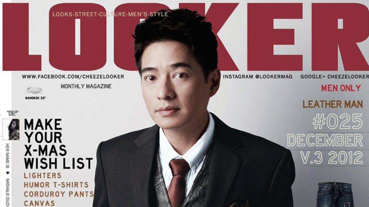 LOOKER 025 The Leather Man behind the cover with 'Kong Saharat'