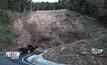 ดินและหินถล่มปิดเส้นทางขึ้นเขาใหญ่