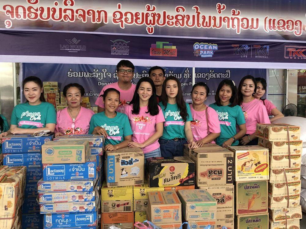 คนไทยร่วมช่วยเหลือพี่น้องชาวลาว