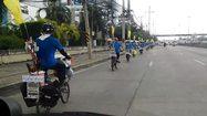 ชาวเขาเผ่าปกาเกอะญอ ออกปั่นจักรยานขอรับบริจาคเงินจ้างครูมาสอนรุ่นน้อง