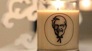 """KFC สร้างสรรค์ """"เทียนหอม"""" กลิ่นไก่ทอดรุ่นลิมิเต็ด"""
