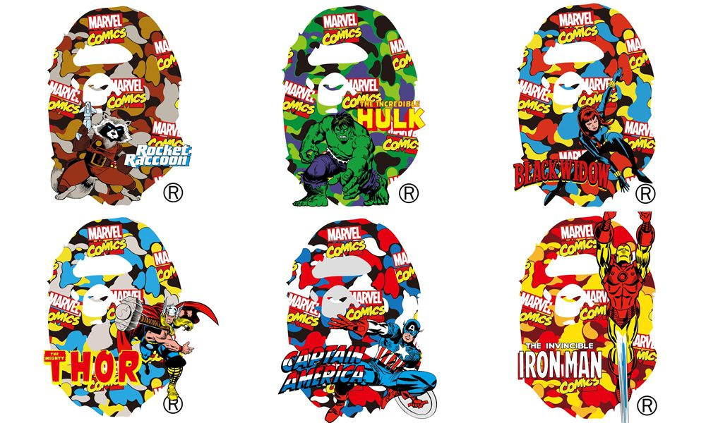 BAPE x Marvel Comics