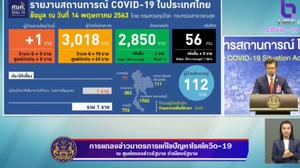 สรุปแถลงศบค. โควิด 19 ในไทย วันนี้ 14/05/2563 | 11.30 น.