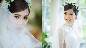 สวยหวานราวกับเจ้าหญิง 5 ชุดงานหมั้น งานแต่ง น้องจีน่า เจ้าสาว โอ้ต วรวุฒิ