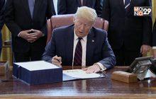 """""""ทรัมป์"""" ลงนามกฎหมายอัดงบพิเศษ 65 ล้านล้านบาท สู้โควิด"""