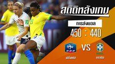 สถิติหลังเกม : ฝรั่งเศส vs บราซิล (22 มิ.ย. 62)