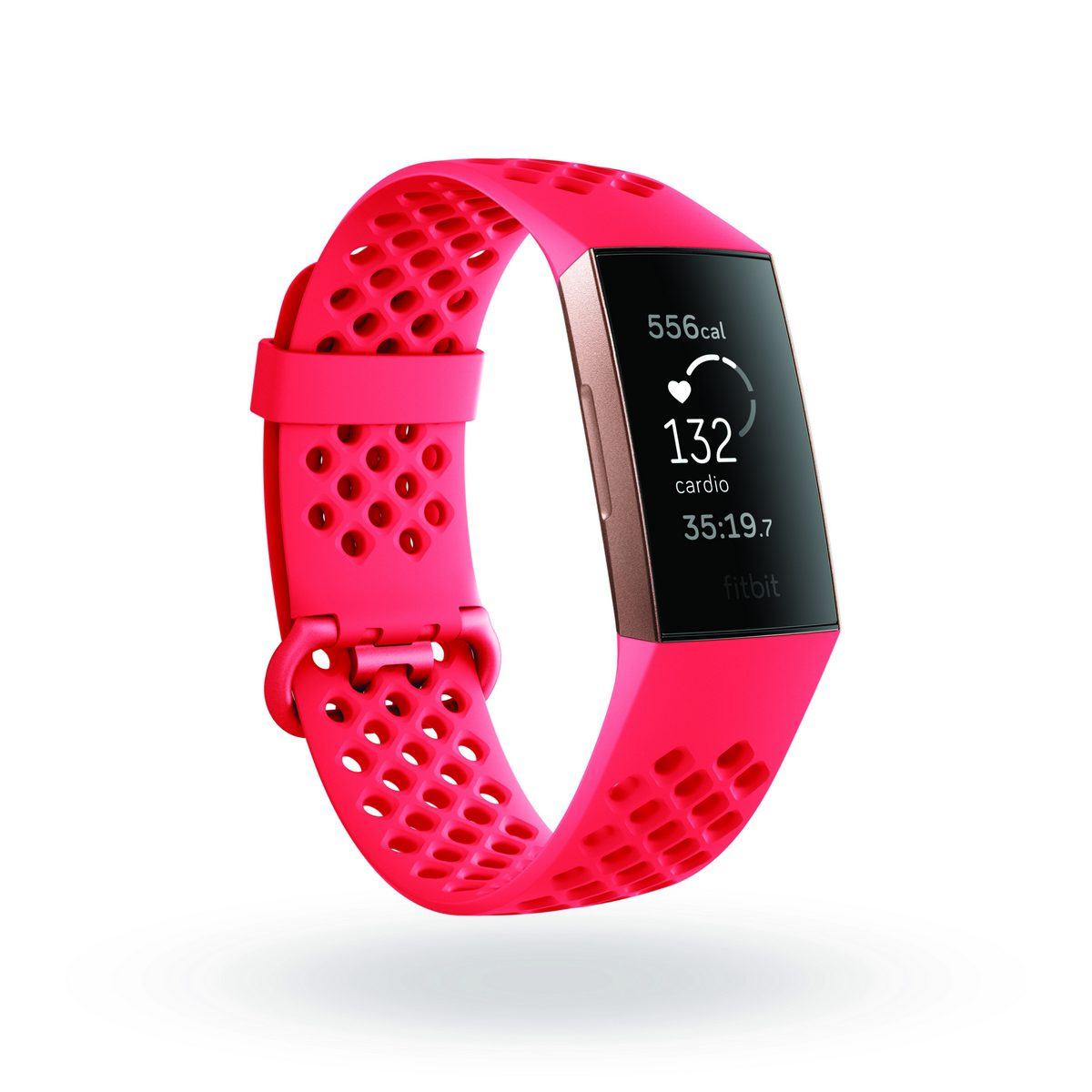 Fitbit Charge 3 quarter view showing cardio