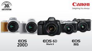 Canon เปิดตัว EOS 6D Mark II, EOS 200D และ EOS M6 เพื่อฉลองครบรอบ 30 ปีของกล้องตระกูล EOS