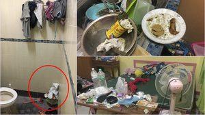 สาวถึงกับช็อก หลังเจอเพื่อนทำห้องพักเละ ทิ้งขยะเกลื่อนเต็มห้อง