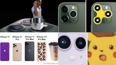 ชาวเน็ตพร้อมใจกันตัดต่อภาพล้อเลียนกล้องหลัง 3 ตัว iPhone 11 อย่างเมามันส์