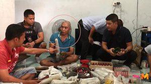 บุกจับชายพิการคาบ้านเช่า หลังเปิดขายใบกระท่อมเป็นรายได้เสริม