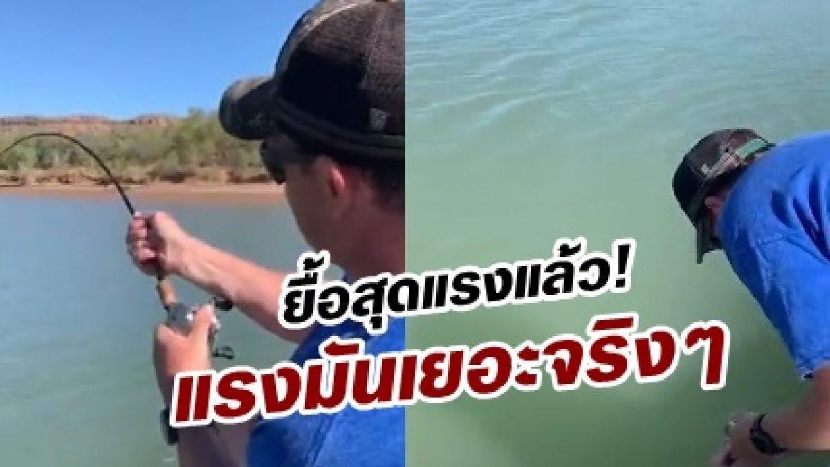 หนุ่มตกปลามีผงะ! เมื่อ เจอแขกไม่ได้รับเชิญกัดเหยื่อล่อ แรงมันมหาศาลจริงๆ