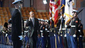 """กองทัพสหรัฐฯจัดพิธีอำลา""""โอบามา"""""""