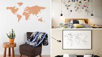 10 ไอเดีย ใช้ แผนที่โลก ตกแต่งผนัง สไตล์นักเดินทาง