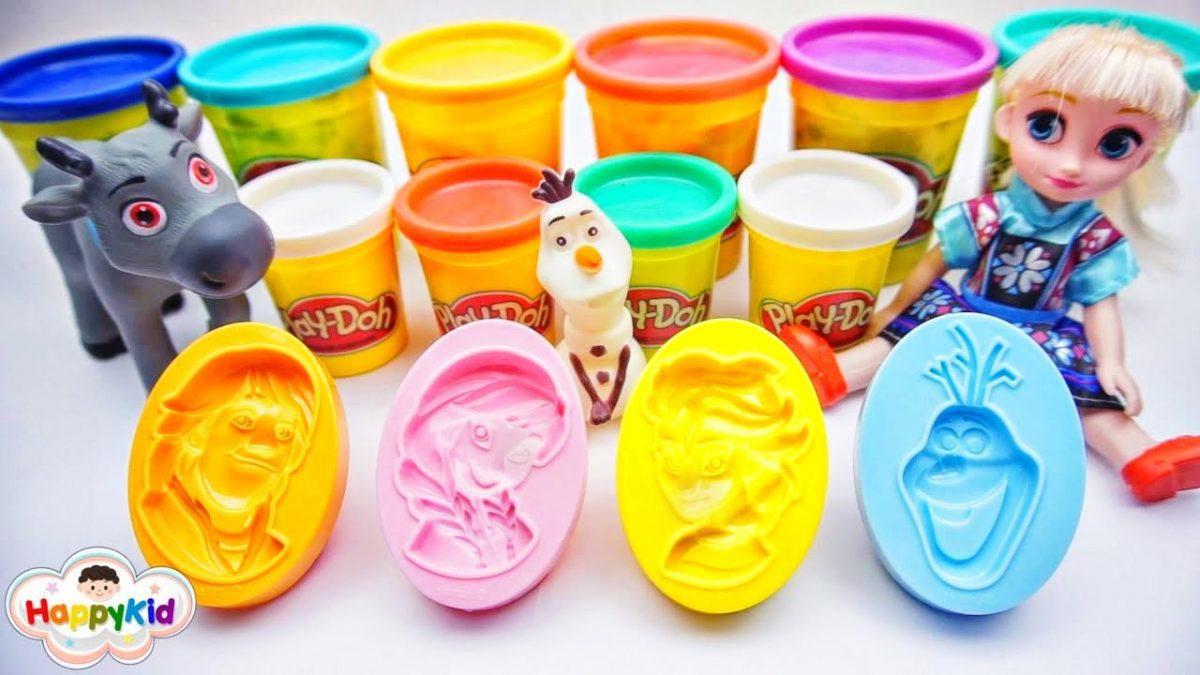 แป้งโดว์โฟรเซ่น เอลซ่า แอนนา โอลาฟ | Frozen Play-Dough Elsa Anna Olaf