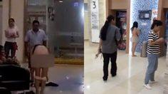 แก้ผ้ากลางห้าง สาวจีนประชดสามีเก่าหลังจากถูกด่าว่าเอาเงินตัวเองมาใช้