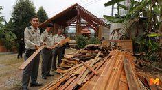 นายทุนรุกป่า 'ทุ่งแสลงหลวง' ยอมรื้อถอนคฤหาสน์หรูบ้านทรงไทย